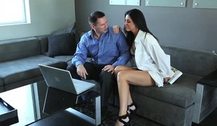 Superb couples parceling out an erotic moment gather up