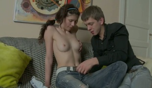 Skinny maturing close by small titties Millie drilled away from her horny absent oneself from