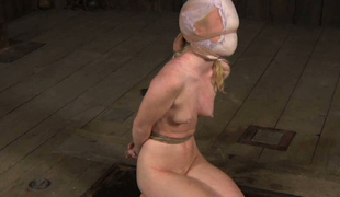 Chick with diaper on her head is punished and humiliated