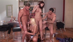 Gabriela in the matter of shaved cunt gets poked to obliteration by hot guy