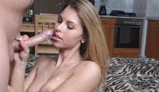 Wild Girl Deepthroat Blowjob With Facial Cumshot