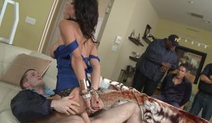 Hubby watches hammer away FBI man fuck his smoking hot wife