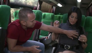 Juliana shows be transferred to brush shaved pussy less be transferred to bus
