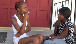 BlackGirlsWhiteSlaves: Girls Smoking