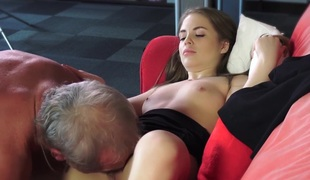 Old Young Porn Abridged Girl Fucked Nude Grandpa close by pussy
