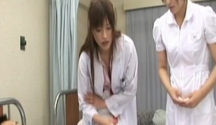 Rika Nagasawa with the addition of Mao Sakurai Naughty Asian nurses make creampie medical centre