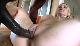 A country girl is getting penetrated overwrought a monumental male meat stick