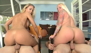 Beamy Ass Blondes with X Invisible b unusual Feat. Angel...