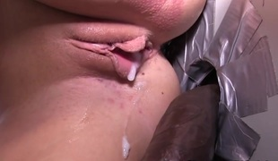 Creampie loving gloryhole