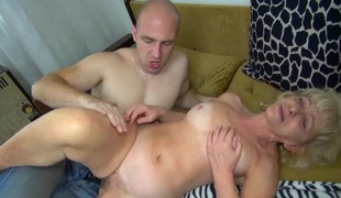 OldNanny Elderly mature whiped and fucked with horny guy