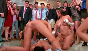 Orgy video prevalent Jamie Valentine, Veronica Rodriguez and Rikki Six