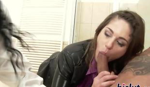 Hardcore anal action everywhere a saucy stunner