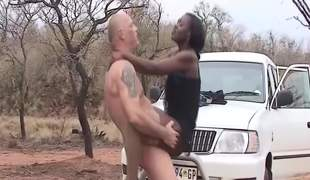 African safari outdoor fuck